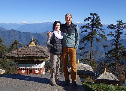 Mike and Jenn in Dochu-la
