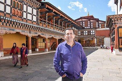 Edimar in Paro dzong