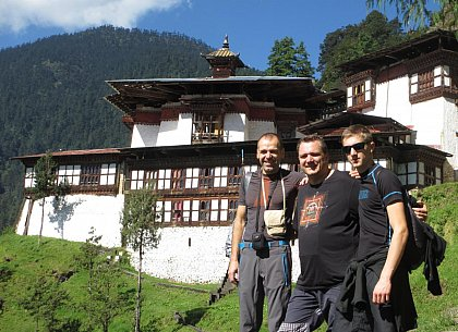 Radek, Jiri a Jan in front of Cheri Monastery
