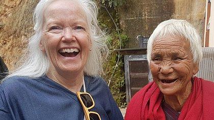 Jaki with Bhutanse friend