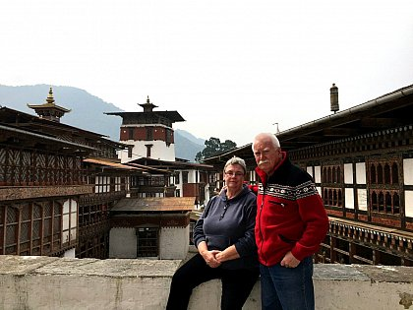 Csilla and Olle in Trongsa dzong