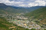 Thimphu from Buddha point