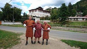 Trying Bhutanese Dress