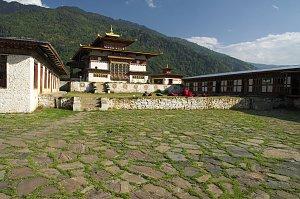 Inside Dobji dzong