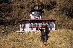 Model of dzong in Dodedra shedra
