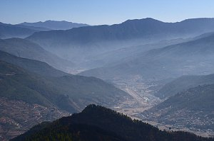 View of Paro valley on Bumdrak trek