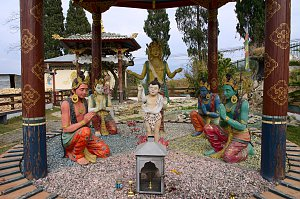 Depiction of the birth of lord Buddha in Damphu