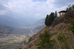 Zuri Dzong and Paro valley
