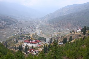 View of Paro dzong form the Zuri dzong trail