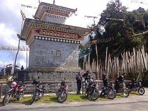 Motorbikes in Kori-la, Mongar