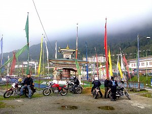 Motorbikes in Thimphu