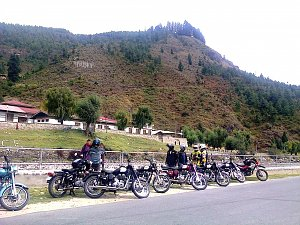 Motorbikes in Paro