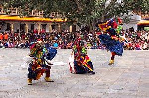 Punakha Drubchen mask dancing