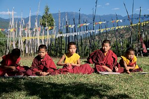Monks of Chimy lhakhang