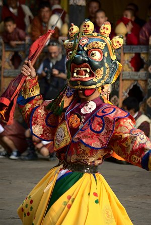 Masked dance during tsechu festival