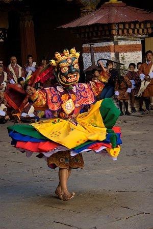 Masked dance during tsechu festival
