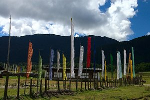 Prayer flags in Phobjika