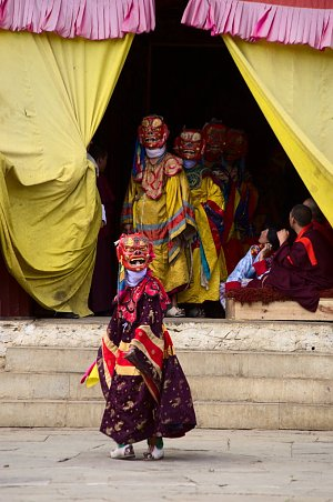 Masked festival dances