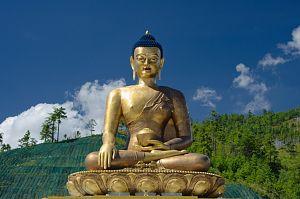 Gigantic Buddha statue in Thimphu
