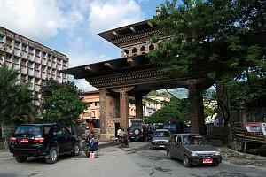 Bhutan Gate in Phuntsoling / Jaigon
