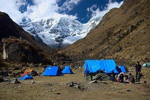 Jangothang campsite