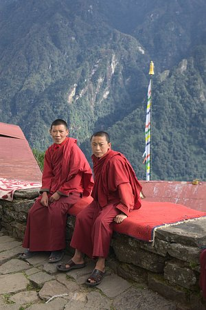 Monks in Gasa dzong