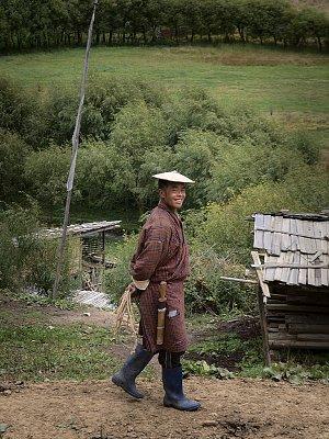 Man in Ura village