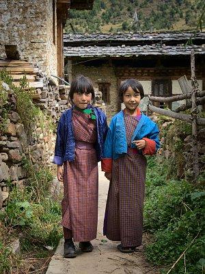 Children in Ura village