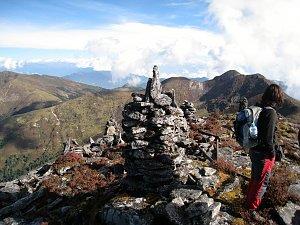 Reaching the pass on Dagala Trek