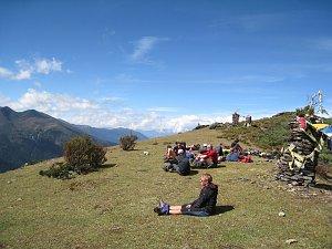 Resting on Dagala Trek