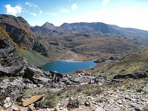 Landscape with lake, Dagala Trek