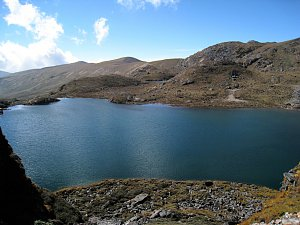 By the lake, Dagala Trek