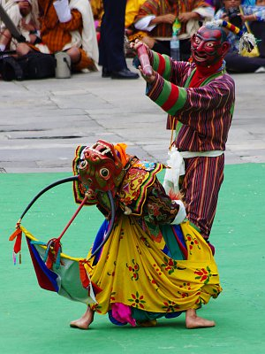 Masked dance on Thimphu Tshechu
