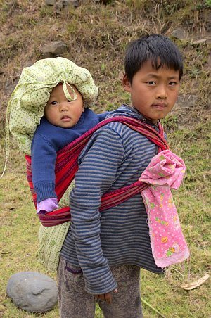 Boy with brother in Jangbi