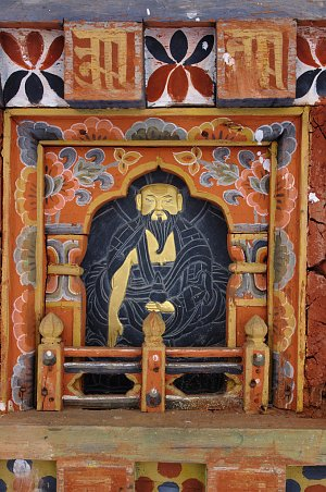 Image of Shabdrung on stupa in Dochu la pass