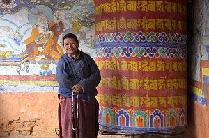 Nun in Sakteng temple