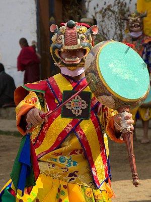 Dancer during Drums of Drametse (Drametse Nga Chham) performance