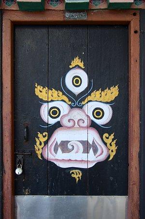 Tantric chapel doors in Kalimpong