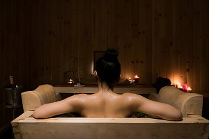 Hot stone bath Norkhill style