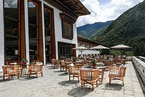 Bhutan Spirit Sanctuary terrace