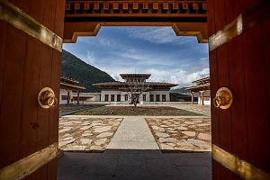 Bhutan Spirit Sanctuary courtyard