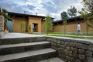 Uma Punakha, courtyard