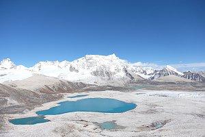Gangkhar Punesum as seen from Gophu La pass