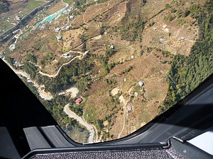 Flying over Paro
