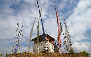The stupa at Goempa in Tsirang Toe