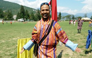 Aravind in Bhutanese dress