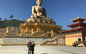 Ricardo and Marilia at Kuenselphodrang