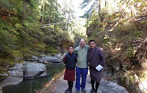 Sonam, Peter and Jigme at Burning Lake