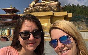 Marina and Victoria at Buddha Point