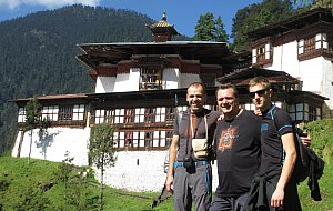 Radek, Jiri a Jan in front of Cheri Monastery